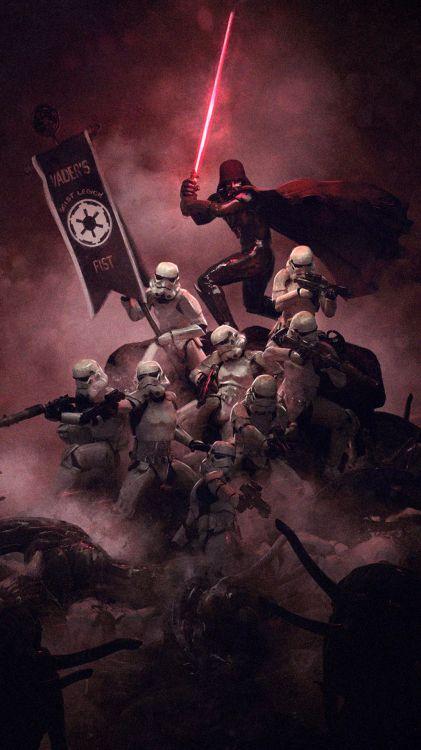 Wallpaper Star Wars Stormtrooper Darth Vader The Mandalorian Star Wars Stormtrooper Art Background Download Free Image